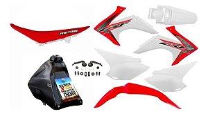 Kit Plástico CRF 230 F 2015 a 2020 - Avtec - Adaptável - DT 180 - Bros