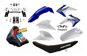 Kit CRF 230 F 2015 a 2020 - Avtec Azul Adaptável XR 200 + Ferragens