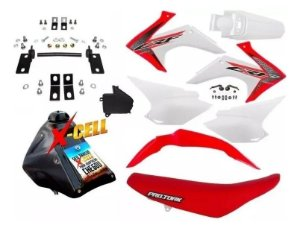 Kit CRF 230 F 2015 a 2020 - Top Avtec Adaptável XR 250 Tornado + Ferragens