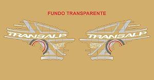 Kit Faixa Adesivo VINIL - Honda Transalp Xl 700v 2011 - Branco e Cinza