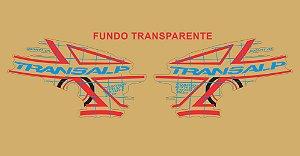 Kit Faixa Adesivo VINIL - Honda Transalp Xl 700v 2011 - Azul e Vermelho