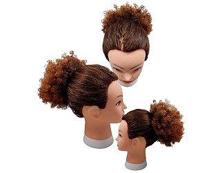 Cabelo de Fibra Sintética Cacheado – Cherey  - Coque Afro Puff