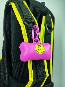Porta-Saquinhos Higiênicos Rosa Yellow Pet