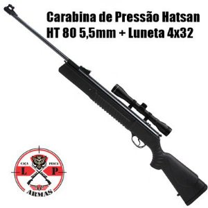 Carabina de Pressão Hatsan HT 80 5,5mm + Luneta 4x32