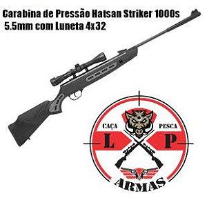 Carabina de Pressão Hatsan Striker 1000s 5.5mm com Luneta 4x32