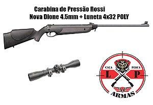 Carabina de Pressão Rossi Nova Dione 4.5mm + Luneta 4X32 POLY