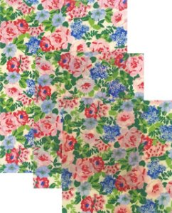 Pano de Mel Floral Kit com 3