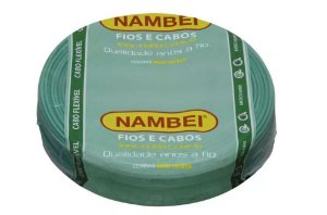 13877 CABO FLEX 750V 1,50MM VERDE NAMBEI