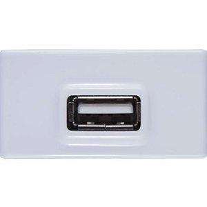 LIZ - MODULO PARA TOMADA USB BIVOLT 1,5A BRANCO - TRAMONTINA