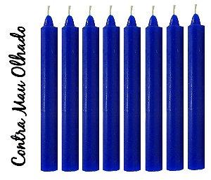 Vela Palito Azul Escuro (maço 8 unidades)