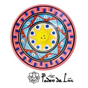 Incensário Cerâmica Peruano Rosa