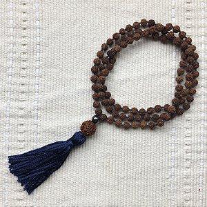 Japamala Rudraksha Blue, 108 Contas, 10mm