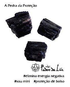 Kit de Mini Pedra Turmalina Negra Bruta