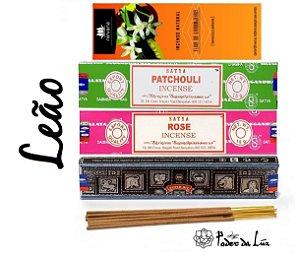 Kit Incensos do Signo Leão (4 caixas)
