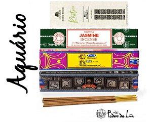 Kit Incensos do Signo Aquário (4 caixas)