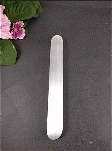 Bastão de Pedra Selenita para Massagem e Terapia