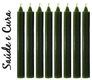Vela Palito Verde (maço 8 unidades)