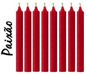 Vela Palito Vermelha (maço 8 unidades)