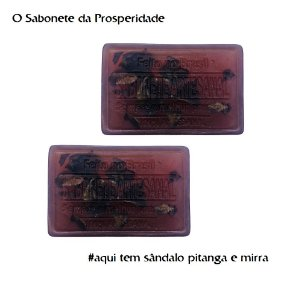 Sabonete Artesanal de Sândalo Pitanga e Mirra