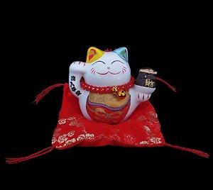 Maneki Neko Paz em Porcelana