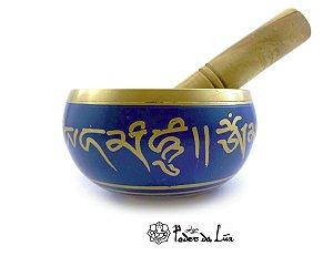 Tigela Tibetana Azul Orin 7 Metais Sagrados