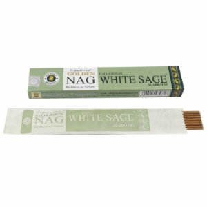 Incenso Massala Golden Nag White Sage (Sálvia Branca)