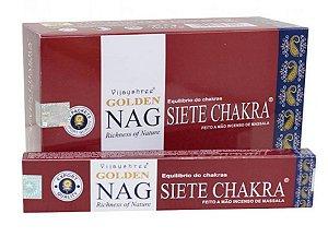 Incenso Massala Golden Nag Siete Chakra (Sete Chakras)