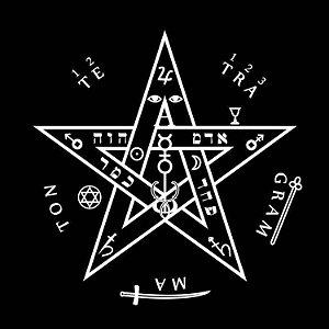 Toalha Tetragrammaton Preta 70cm