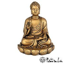 Buda Sakiamuni (Iluminado) Dourado 16 cm