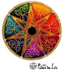 Ativador de Energia Mandala Estrela de 7 Pontas (10cm)