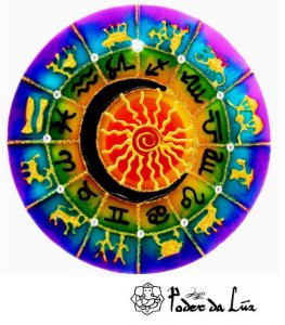 Ativador de Energia Mandala Zodíaco (14cm)