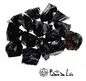 Pedra Obsidiana Negra Bruta Grande (11g à 20g)