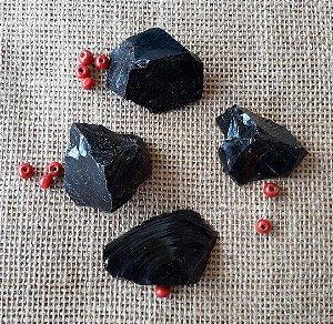 Pedra Obsidiana Negra Bruta Grande (31g à 40g)