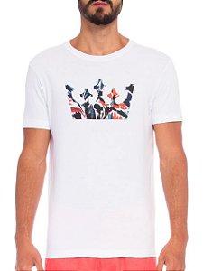 Osklen Camiseta Stone Coroa Flower 61896