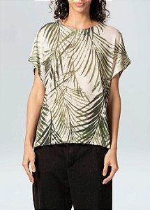 Osklen Blusa Over Palm Leaf Light Eco 61540