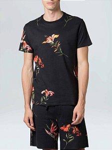 Osklen Camiseta Double Hibiscus Night 61760