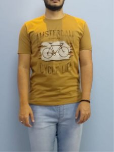 Elemento Zero Camiseta Amsterdam Mostarda 201-809