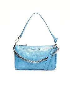 Schutz Bolsa Tiracolo Grande Emmy Couro Azul S5001815320004