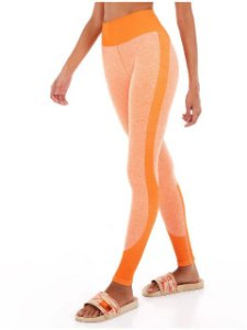 Alto Giro Legging Sem Costura Laranja Mescla  2131304