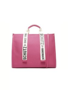 Schutz Bolsa Shopping Grande Livia Lona Pink S5001002320002
