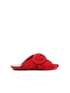 Schutz Flat Slide Buckle Red S0109304370003
