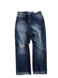Maria Valentina Calça Jeans Detalhe Na Barra - 202512