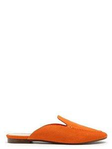 Schutz Flat Mule Comfy Suede Orange - S2071000450002
