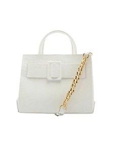 Schutz Buckle Bag Tote White - S5001810890004