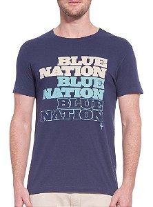 Osklen Tshirt Vintage Blue Nation 56094