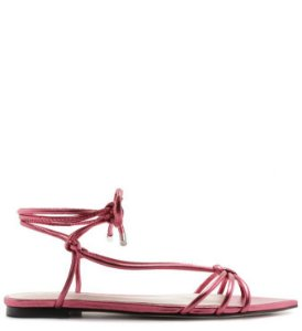 Schutz Sandália Strings Lace-Up Metallic Red S2103900090001