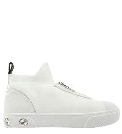 Schutz Tênis High Knit Zíper White S2102300010004