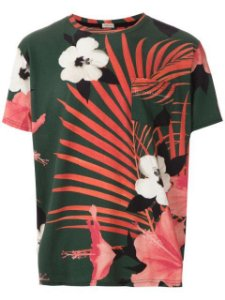 Osklen Tshirt Mc Masc Pocket Hibisco 59081