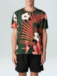 Osklen Tshirt Mc Masc Pocket Hibisco 59081