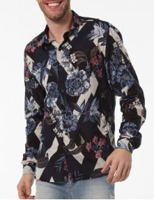 Docthos Camisa Ml Estampa Floral 605439110